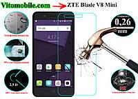 Защитное стекло ZTE Blade V8 Mini / 2,5D / олеофобное покрытие