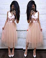 Шикарное платье с открытой спинкой, размер 42-44