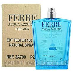 Gianfranco Ferre Ferre Acqua Azzurra Men (100мл), Мужская Туалетная вода Тестер - Оригинал!