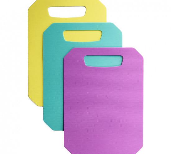 Набор из 3-х 28x20см гибких пластиковых разделочных досок Fissman