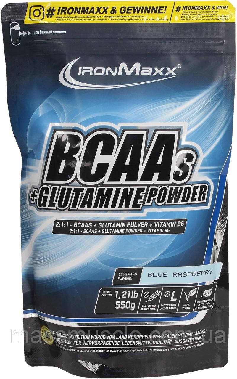 Аминокислоты IronMaxx BCAAs + Glutamine Powder 550 g