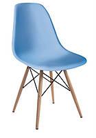 Стул Тауэр Вуд, пластиковый, барный, цвет голубой