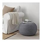 Пуф IKEA SANDARED 56 см серый 003.853.09, фото 5