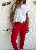Женский костюм: футболка и брюки, в расцветках. К-3-0518, фото 1