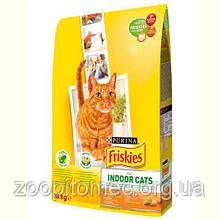 Корм ФРИСКИС Friskies для кішок INDOOR садової травою для домашніх котів на вагу 10 кг