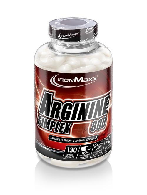 Аргинин IronMaxx Arginine Simplex 800 130 caps
