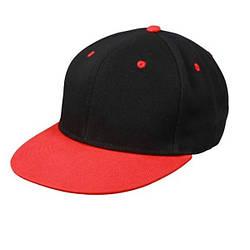 Кепка Снепбек (чорно-червоний)