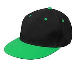 Кепка Снепбек (чорно-зелений)