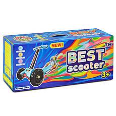 Самокат А 24666 - 1010 Best Scooter 3 в 1 (8) цвет РОЗОВЫЙ, колеса PU светящиеся, фото 3