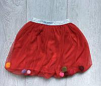 Юбка детская для девочки 1-5лет, красного цвета