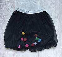 Юбка детская для девочки 1-5лет, черного цвета
