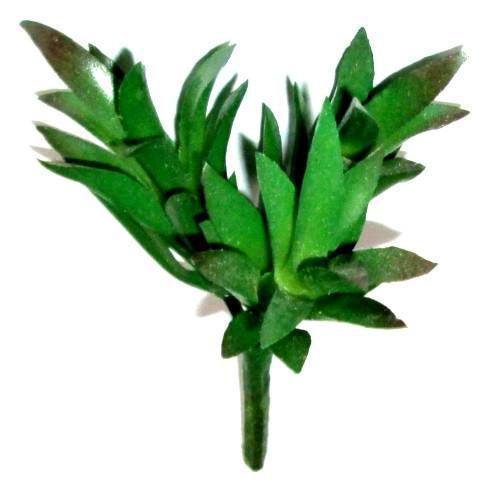 Кустик суккулентов искусственный 15 см, зеленый