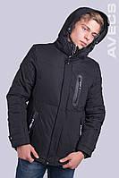 Куртка чоловіча зимова чорна Avecs AV-70189 40H Розміри 54 56 (маломер на 1 розмір)