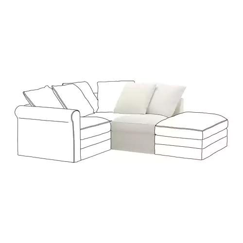 Секция 1-местная IKEA GRÖNLID Inseros белый 792.546.59 592.546.41