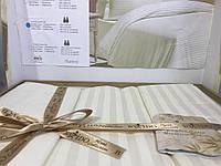 Постельное бельё евро сатин страйп By IDO кремовый