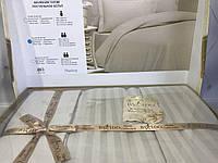 Постельное бельё евро сатин страйп By IDO светло бежевый