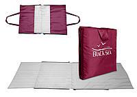 Пляжный коврик-сумка Coverbag М бордо