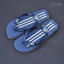 Пляжные тапочки вьетнамки Adidas синие