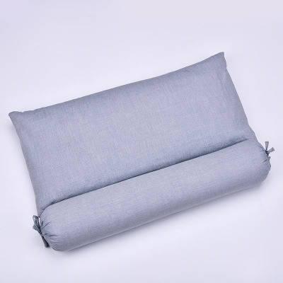 Подушка с валиком с гречихой и лавандой