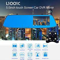 "DVR L1001C Full HD 5"" 2 камеры сенсор видеорегистратор зеркало"