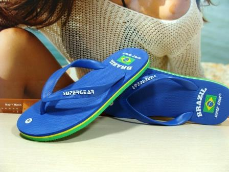 Сланцы женские Super Gear (BRAZIL) синие 39 р.