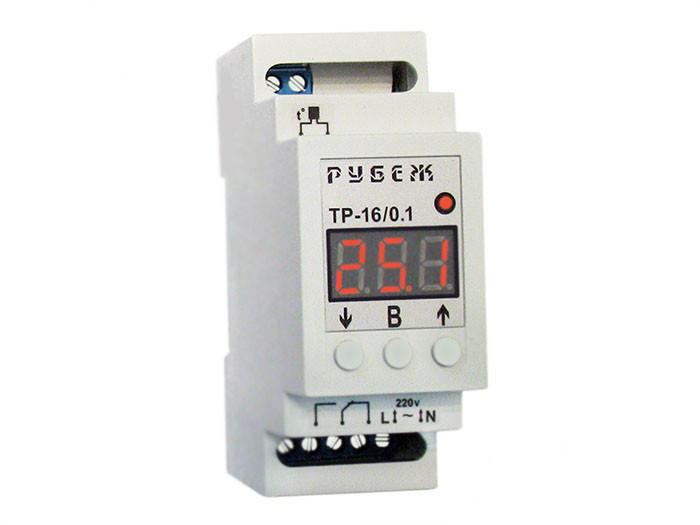 Терморегулятор цифровой на DIN-рейку РУБЕЖ ТР-16/0.1