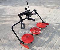 Коса роторная КР-03М-120 для мототракторов, мотоблоков. Косилка передняя, сенокосилка, косарка 120 см