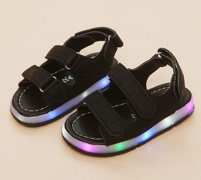 Босоніжки дитячі LED чорні - Lileya Shop в Виннице 8a2dbbd864ef1