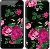 """Чехол на Meizu M5 Note Розы на черном фоне """"2239c-447-11157"""""""