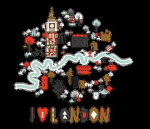 Интерьерная наклейка I love London, фото 2