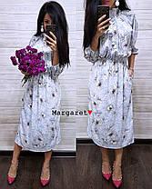 Нежное летнее платье с карманами, размер единый 42-44, фото 2