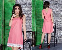Платье женское лен +кружево, фото 1