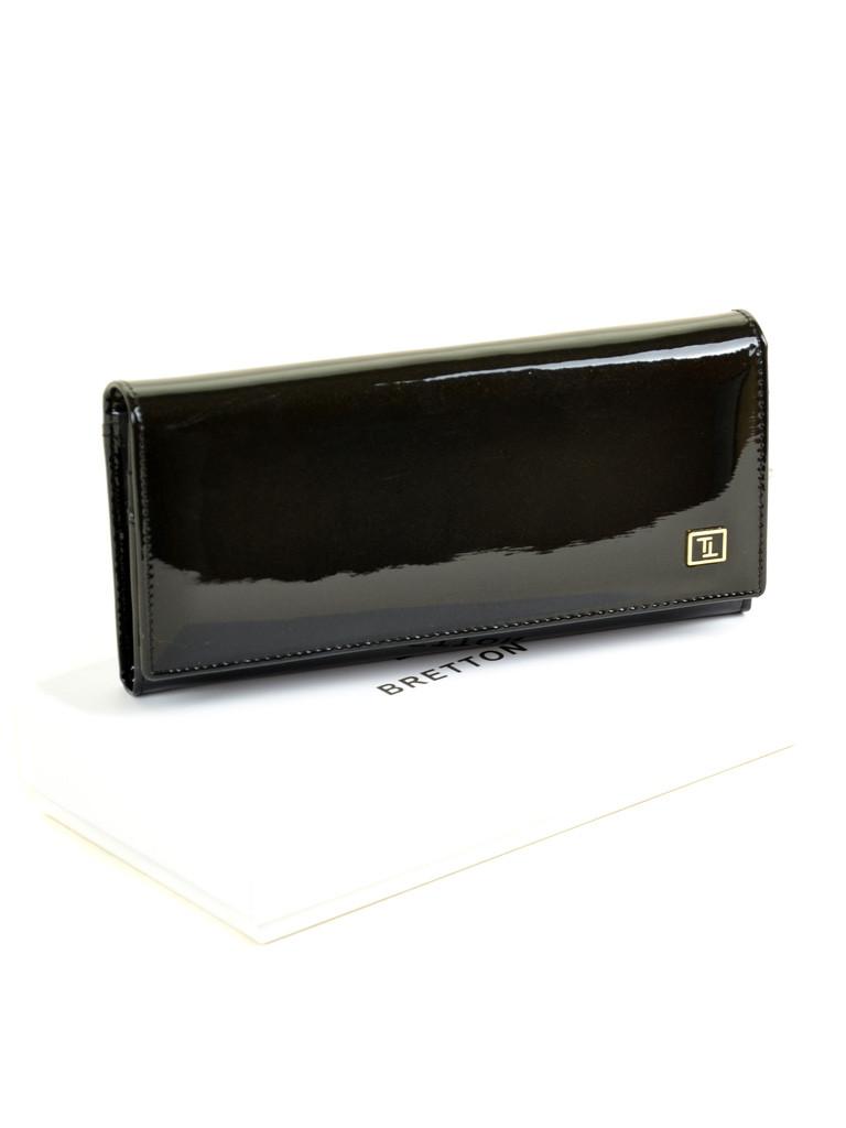 Женский лаковый кошелек W1-V black, фото 1