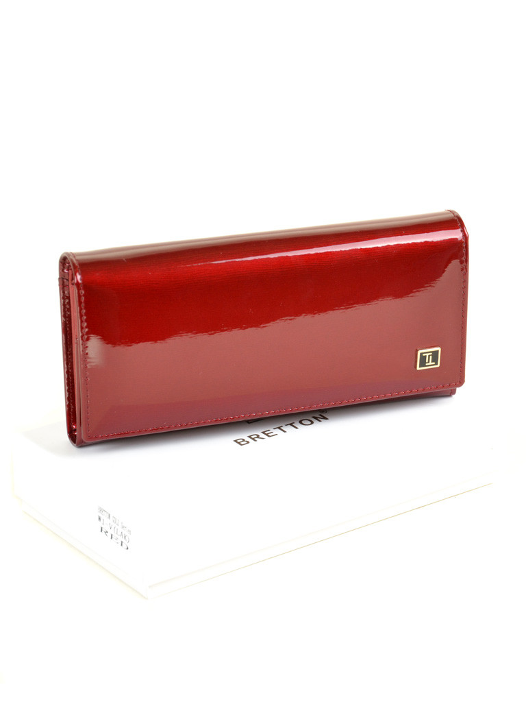 Женский лаковый кошелек W1-V red, фото 1