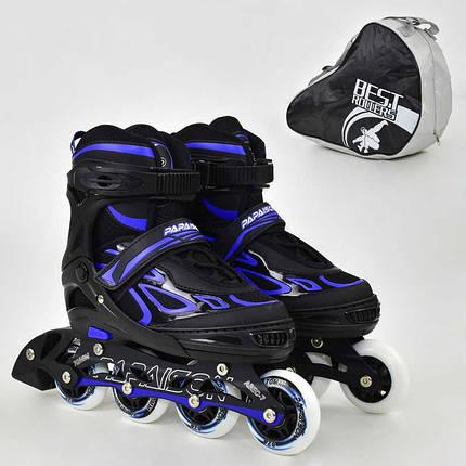 "Ролики 6006 ""M"" Blue - Best Roller /размер 35-38/ (6) колёса PU, без света, d=7см, фото 2"