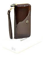 Женский лаковый кошелек-сумочка W38 dark-coffee, фото 1