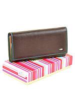 Большой кожаный кошелек Rainbow W0807 coffee, фото 1