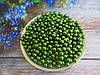 Бусины перламутровые под жемчуг, 6 мм, цвет зеленый, 50 шт.