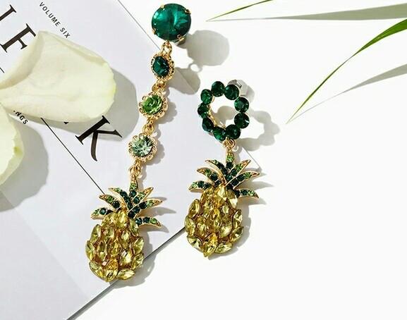 Серьги Dolce & Gabbana (Дольче Габбана)_ананас