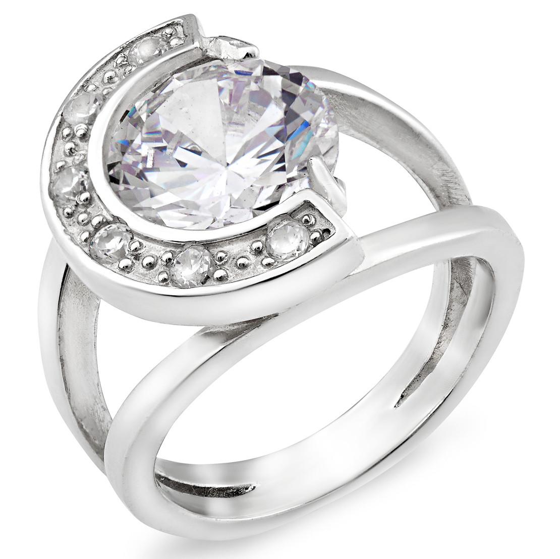 0e9d9fd5d2ac Серебряное кольцо 925 пробы с фианитами (45к) - Украшения из серебра в  Белой Церкви