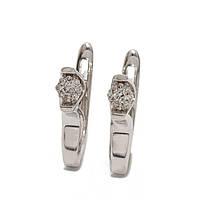 Золотые серьги с бриллиантами 880141-Сбел