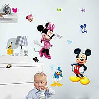 Наклейка виниловая Наклейка Микки и Минни Маус 3D декор, фото 1