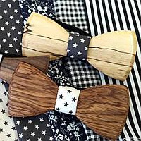 Деревянные бабочки в упаковке, формы и цвета в ассортименте