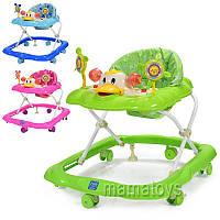 Детские ходунки 3685 муз,свет, колеса 6 шт, стопор 2 шт, 3 положения
