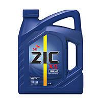Полусинтетическое моторное масло ZIC X5 10W-40 4 л.
