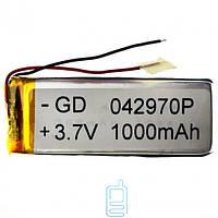 Аккумулятор GD 042770P 1000mAh Li-ion 3.7V