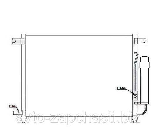 Радиатор кондиционера AVEO 3 (Т250) (пр-во Тайвань) Шевроле Авео Т250
