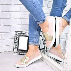 """Кеды, мокасины, кроссовки, пудра """"Luxeme"""" КОЖА, обувь женская спортивная, повседневная, спортивная, фото 3"""