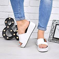 """Шлепки, тапки, сланцы, белые """"Shaeret"""" эко кожа,  обувь летняя, повседневная обувь шлепки женские, фото 3"""