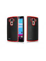 Чехол Motomo slim line для LG G4 красный